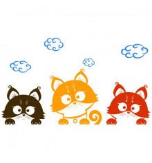 Виниловая наклейка детская Three Kittens купить в интернет магазине подарков ПраздникШоп