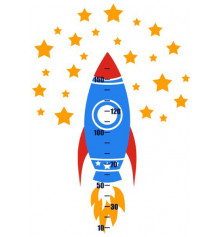 Виниловая наклейка ростомер Rocket купить в интернет магазине подарков ПраздникШоп