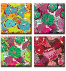 Картина полиптих Flowers купить в интернет магазине подарков ПраздникШоп