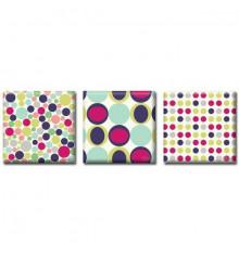 Картина триптих Dots купить в интернет магазине подарков ПраздникШоп