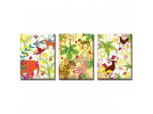 Картина триптих Jungle купить в интернет магазине подарков ПраздникШоп