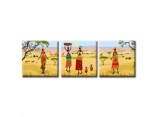 Картина триптих Oasis купить в интернет магазине подарков ПраздникШоп