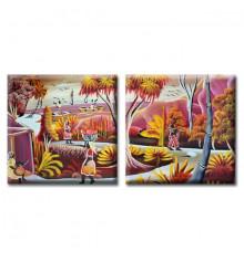 Картина диптих Exotic купить в интернет магазине подарков ПраздникШоп