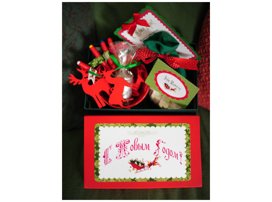"""Подарочный набор """"Новогоднее фондю"""" купить в интернет магазине подарков ПраздникШоп"""