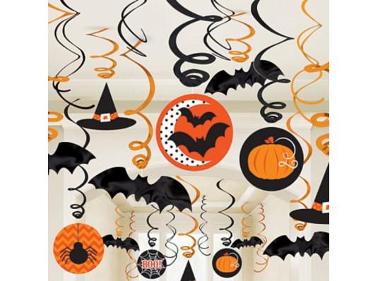 Спираль-украшения набор Хэллоуин купить в интернет магазине подарков ПраздникШоп