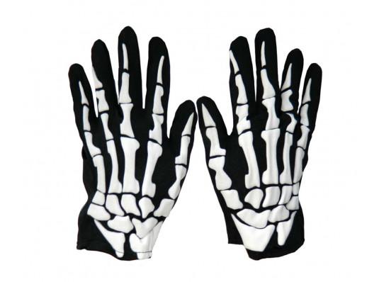 Рукавички скелета тканинні купить в интернет магазине подарков ПраздникШоп