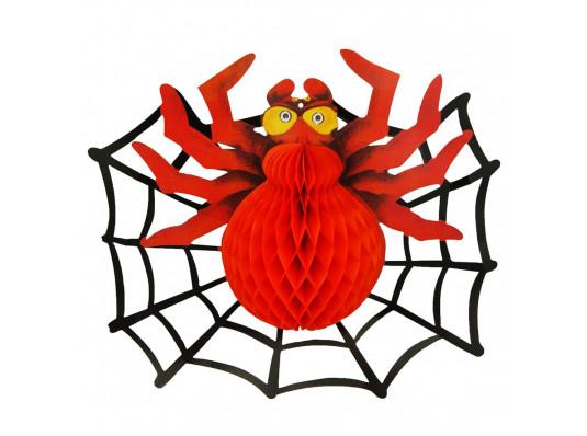 Декор 3D Паук с паутиной купить в интернет магазине подарков ПраздникШоп