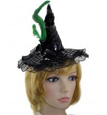 Шляпа ведьмочки на обруче купить в интернет магазине подарков ПраздникШоп