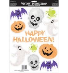 Наклейки на окно Happy Halloween блеск купить в интернет магазине подарков ПраздникШоп