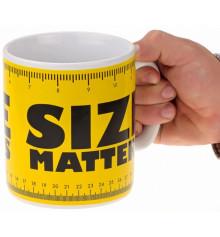 """Кружка - гигант """"Size matters"""" купить в интернет магазине подарков ПраздникШоп"""