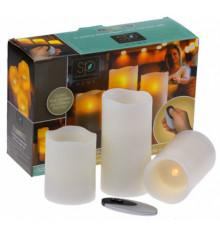 Свечи - набор 3 шт. с пультом ДУ купить в интернет магазине подарков ПраздникШоп