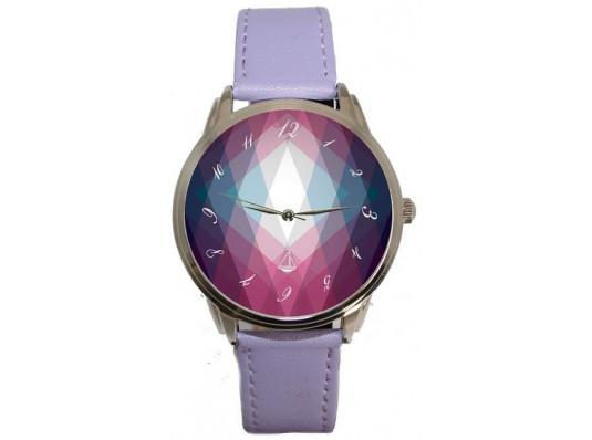 """Наручные часы """"Фиолетовые ромбы"""" купить в интернет магазине подарков ПраздникШоп"""