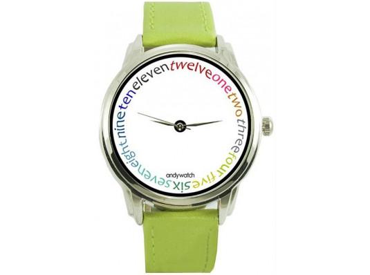 """Наручные часы """"Цветные слова"""" купить в интернет магазине подарков ПраздникШоп"""