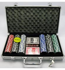 Покерный набор в алюминиевом кейсе 300 фишек купить в интернет магазине подарков ПраздникШоп