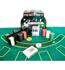 Покерный набор (2 колоды карт, 200 фишек, сукно) купить в интернет магазине подарков ПраздникШоп