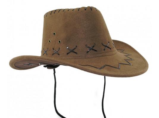 Шляпа ковбоя детская светло-коричневая купить в интернет магазине подарков ПраздникШоп