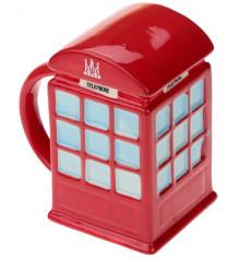 """Кружка """"LONDON"""" - красная телефонная будка купить в интернет магазине подарков ПраздникШоп"""