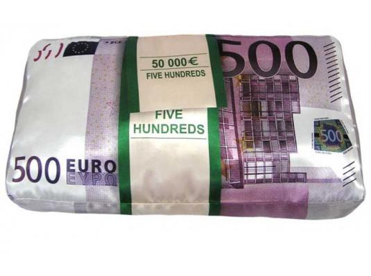"""Подушка """"500 ЕВРО"""" купить в интернет магазине подарков ПраздникШоп"""