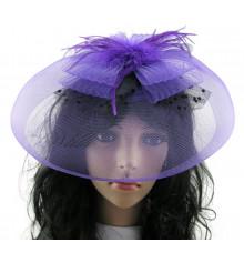 Шляпка - таблетка с перьями купить в интернет магазине подарков ПраздникШоп