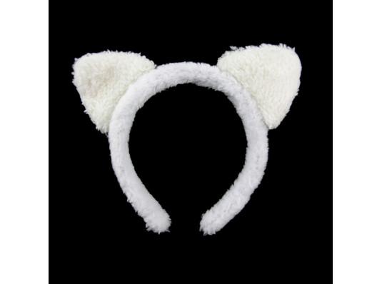 """Ушки """"Кошка"""" белая купить в интернет магазине подарков ПраздникШоп"""