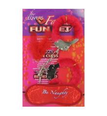 """Кандалы - набор любимым с маской """"be naughty купить в интернет магазине подарков ПраздникШоп"""