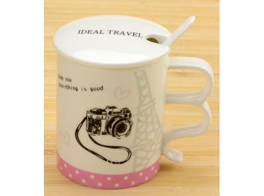 """Чашка Ideal travel """"Travel Paris"""" купить в интернет магазине подарков ПраздникШоп"""