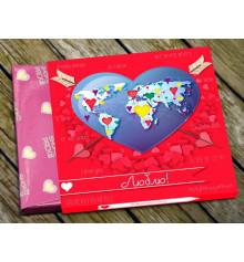 """Шоколадный мини-набор """"Люблю"""" купить в интернет магазине подарков ПраздникШоп"""