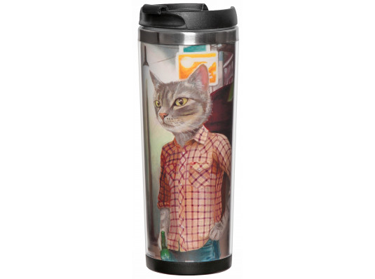 """Термокружка """"Коты в одежде"""" купить в интернет магазине подарков ПраздникШоп"""