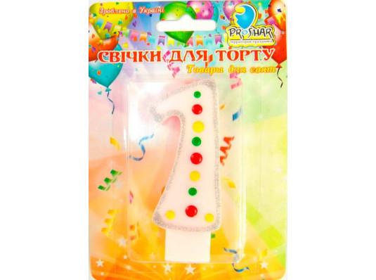 Свеча-цифра 1 купить в интернет магазине подарков ПраздникШоп