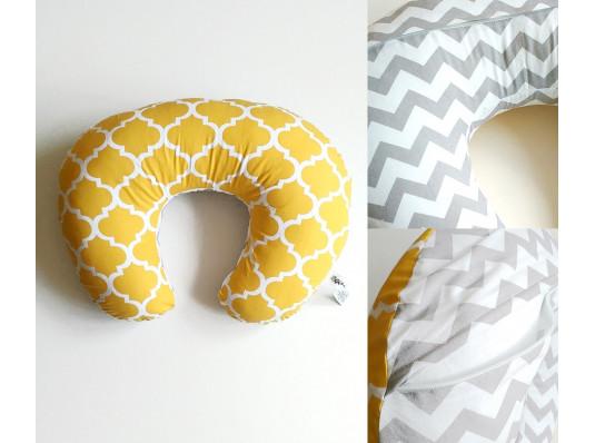 """Подушка для кормления """"Жёлтая6 - Зиг-заг"""" купить в интернет магазине подарков ПраздникШоп"""