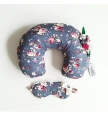 """Подушка под шею с маской """"Цветы"""" купить в интернет магазине подарков ПраздникШоп"""