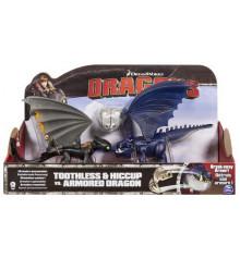 Беззубик и Иккинг против синего дракона в броне купить в интернет магазине подарков ПраздникШоп