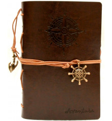Блокнот 'Adventure' темно-коричневый купить в интернет магазине подарков ПраздникШоп