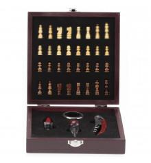Винный набор с шахматами средний, 18 см купить в интернет магазине подарков ПраздникШоп