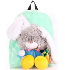Детский рюкзак KID'S BACKPACKS кролик зелёный купить в интернет магазине подарков ПраздникШоп