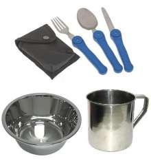 Набор посуды туристический 5 в 1 купить в интернет магазине подарков ПраздникШоп
