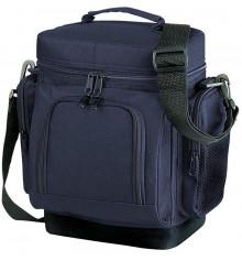 Термосумка с карманами тёмно-синяя купить в интернет магазине подарков ПраздникШоп
