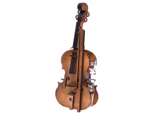 Скрипка с рюмками купить в интернет магазине подарков ПраздникШоп