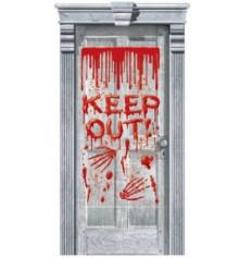 """Картинка на дверь """"Надпись кровью"""" купить в интернет магазине подарков ПраздникШоп"""