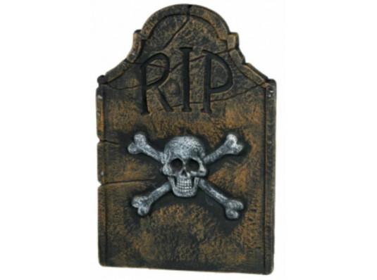 Украшение Надгробие Череп с костями RIP купить в интернет магазине подарков ПраздникШоп