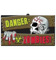 """Баннер """"Зомби Опасность"""" купить в интернет магазине подарков ПраздникШоп"""