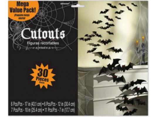 Баннер Летучая мышь 3D 30шт купить в интернет магазине подарков ПраздникШоп