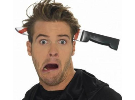 Нож в голову купить в интернет магазине подарков ПраздникШоп