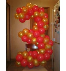 Цифра 3 из шариков купить в интернет магазине подарков ПраздникШоп