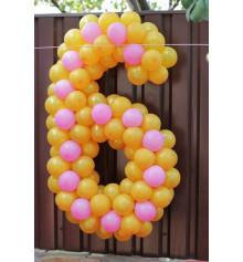 Плетеная цифра 6 купить в интернет магазине подарков ПраздникШоп