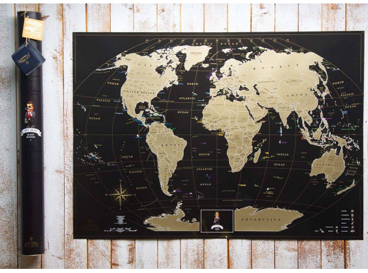 Скретч карта мира My Map Black Edition купить в интернет магазине подарков ПраздникШоп