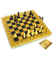 Нарды + шахматы из бамбука №2 купить в интернет магазине подарков ПраздникШоп