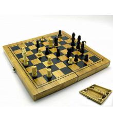 Нарды + шахматы + шашки бамбук купить в интернет магазине подарков ПраздникШоп