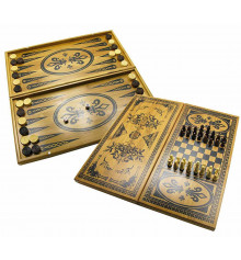 Нарды + шахматы + шашки бамбук №2 купить в интернет магазине подарков ПраздникШоп
