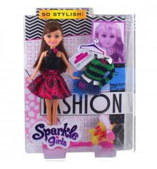 Кукла-модница Кэролин в красно-черном изысканном платье с дополнительным нарядом (25 см) купить в интернет магазине подарков ПраздникШоп